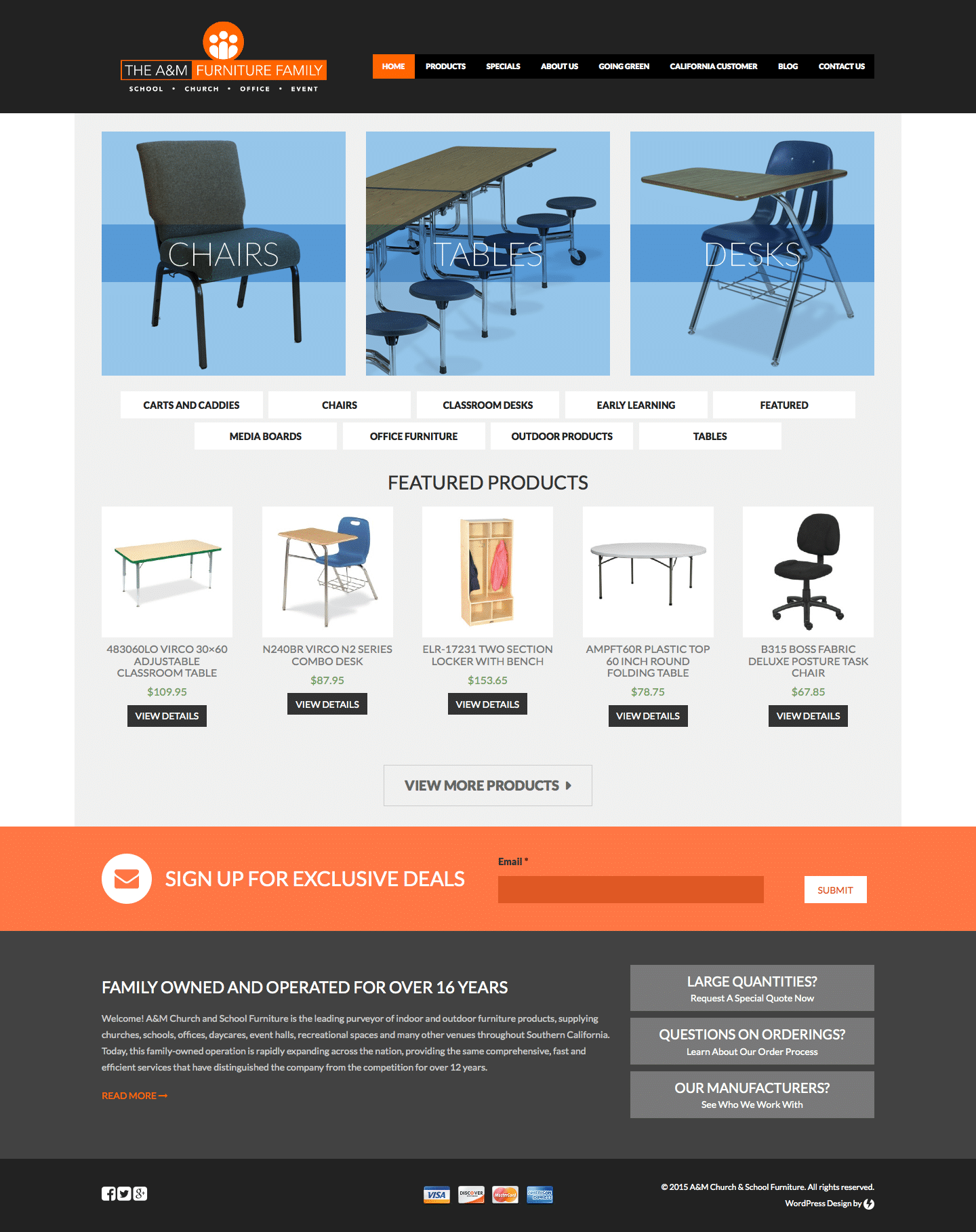 The Furniture Family - Custom eCommerce WordPress Website by imFORZA
