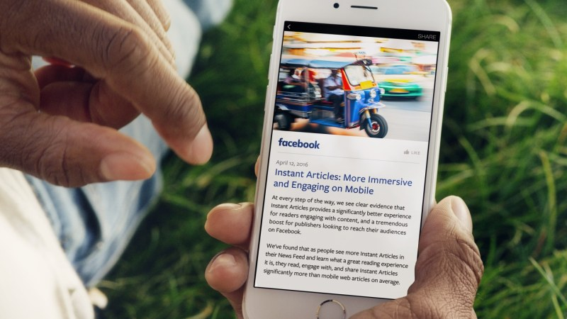 Facebook Instant Articles Available to All Publishers
