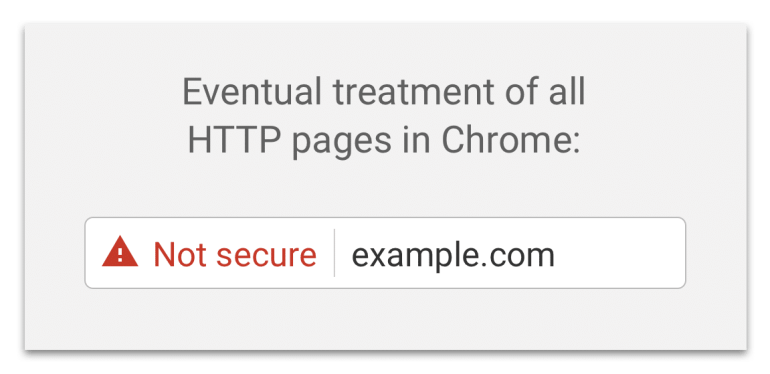 Not Secure Message from Google Chrome