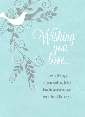 Wishing You Love Wedding Congratulations Card Cardstore