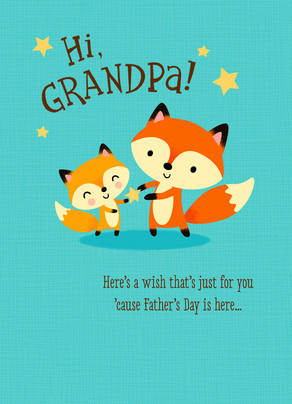 Cute Grandpa Fox Fathers Day Card Cardstore