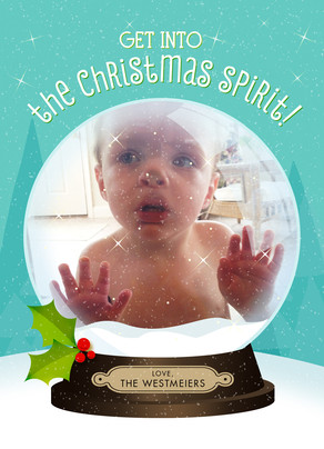 Cute Snowglobe Christmas Card Cardstore