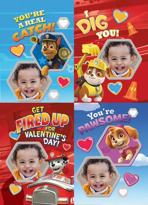 Paw Patrol Photo Valentine Cards Valentines Day School