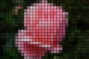 Картинка в клеточку, квадратная мозаика