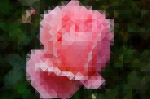Треугольная пикселизация, картинка из треугольников