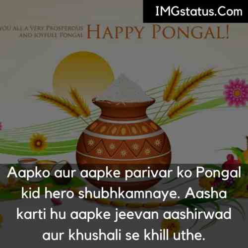 Happy Pongal Status in Hindi