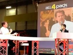 Interview de Gary Griffin sur le plateau TV d'all4pack