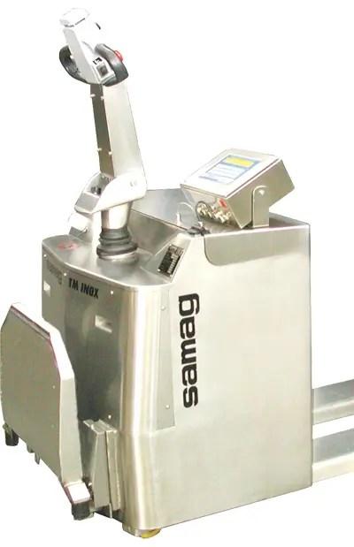TM-PO inox Samag avec système de pesage