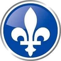 Logo com a Flor-de-Lis, símbolo da província do Quebec