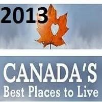 ranking 2013 das melhores cidades para se viver no Canada
