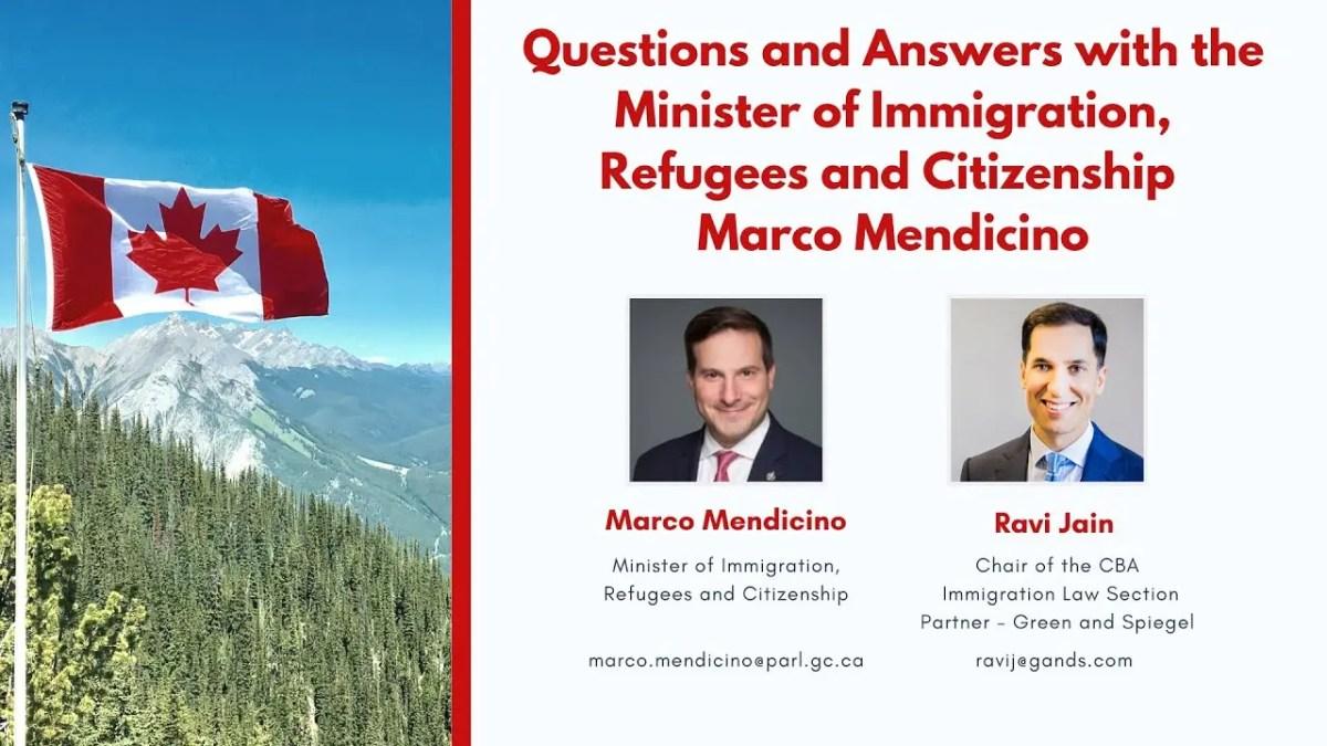 Perguntas e Respostas com o Ministro da Imigração Marco Mendicino