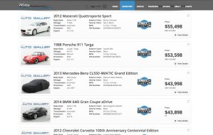 screenshot of westonautogallery.com inventory page