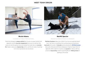 Crowdfunding website for Origin House of Fitness founders screenshot