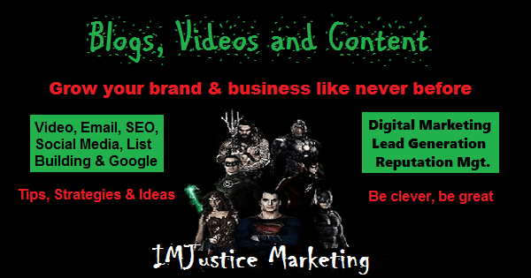 IMJustice Marketing tips, strategies and ideas to grow your brand or business