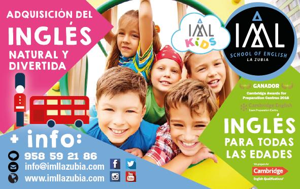 clases de inglés para niños en colegios con IML La Zubia