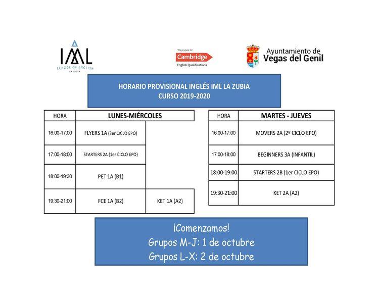 Clases de inglés en Ayuntamiento Vegas del Genil