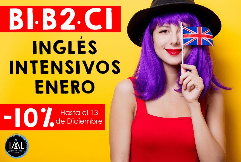 cursos intensivos de inglés en Granada. Enero 2020