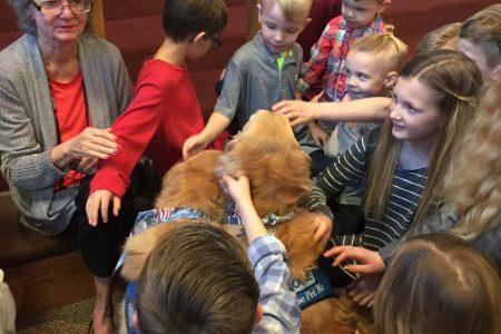 Louie Jackson Comfort Dog children