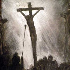 Jesus on the cross sketch I Thirst