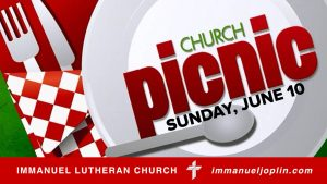 church picnic sunday june 10 immanuel lutheran church joplin missouri