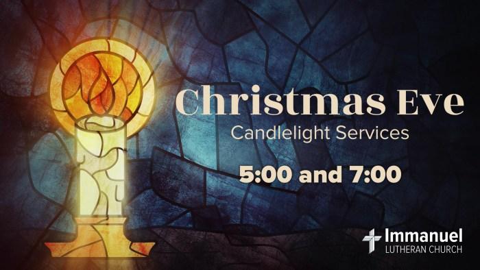 Christmas Eve Candlelight Service. Immanuel Lutheran Church LCMS in Joplin, Missouri.