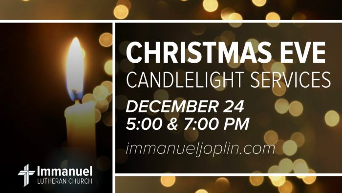 christmas eve candlelight service immanuel lutheran church joplin missouri