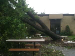 May 2011. Joplin Tornado Damage. Immanuel Lutheran Church LCMS. Joplin Missouri.