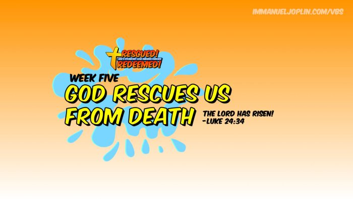 VBS At Home Rescued Redeemed