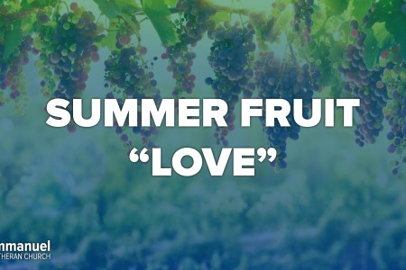 Summer Fruit. Love. Eleventh Sunday After Pentecost. Immanuel Lutheran Church LCMS. Joplin, Missouri.