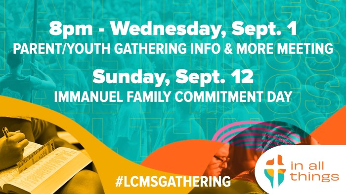 commitment day lcms gathering 2022. Immanuel Lutheran Church LCMS. Joplin Missouri. Youth Ministry.