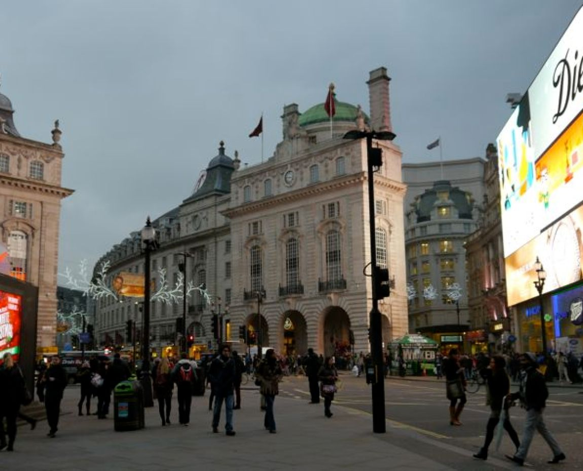 Lichter am Picadilly Circus