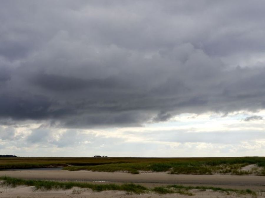 Sankt Peter Ording Wolken am Strand