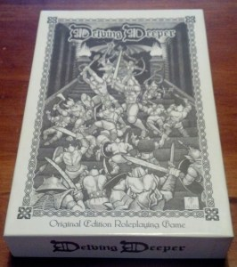 Delving Deeper Boxed Set by Brave Halfling Press. Image courtesty of +Bill Lackey.