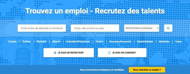 Trouvez un emploi au Québec / Canada