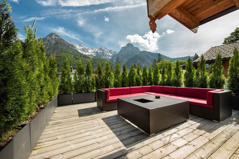 Terrasse mit Alpenblick in Kitzbühel