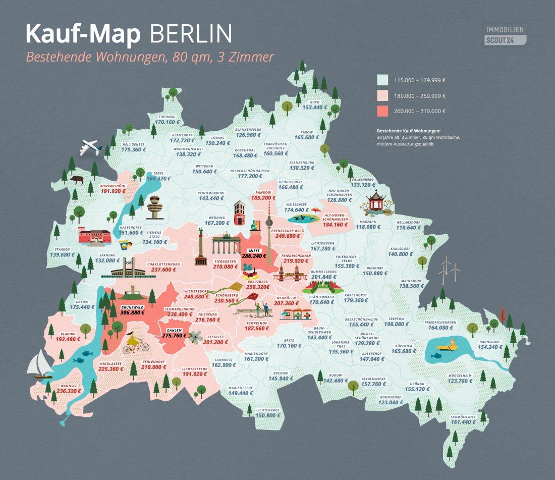 Kauf-Map Berlin bestehende Wohnungen