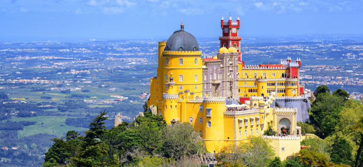 View over Pena Palace Sintra