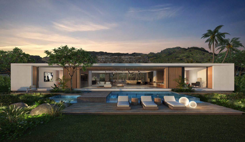 La villa Bliss dispose d'espaces intérieurs généreux et d'une grande terrasse ... Nos consultants Heritage Villas Valriche basés à Maurice, en France, en Afrique  .