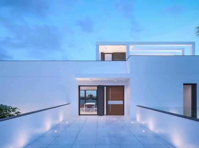 avec des lignes épurées et fines et de grandes fenêtres.||Villa spectaculaire dans l'urbanisation Santa Monica de Benalmadena|Villa spectaculaire dans l'urbanisation Santa Monica de Benalmadena|