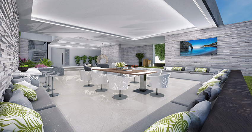 Villa sur plan de 4 chambres avec vue sur la mer sur la Costa del Sol Benahavis5