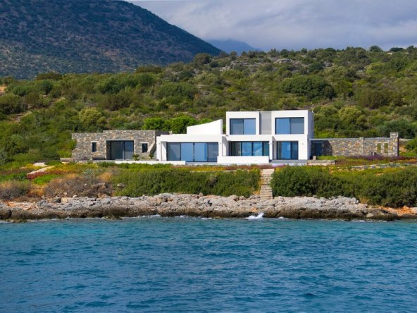 Grèce maison impressionnante 5 chambres 470 m² vue panoramique sur la mer|la côte d'Agios Nikolaos||||||||||||||||||||||||