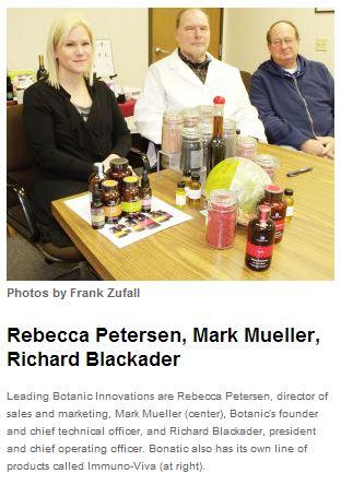 Founder & CTO Mark Mueller; COO Richard Blackader& Director of Sales & Marketing Rebecca Petersen