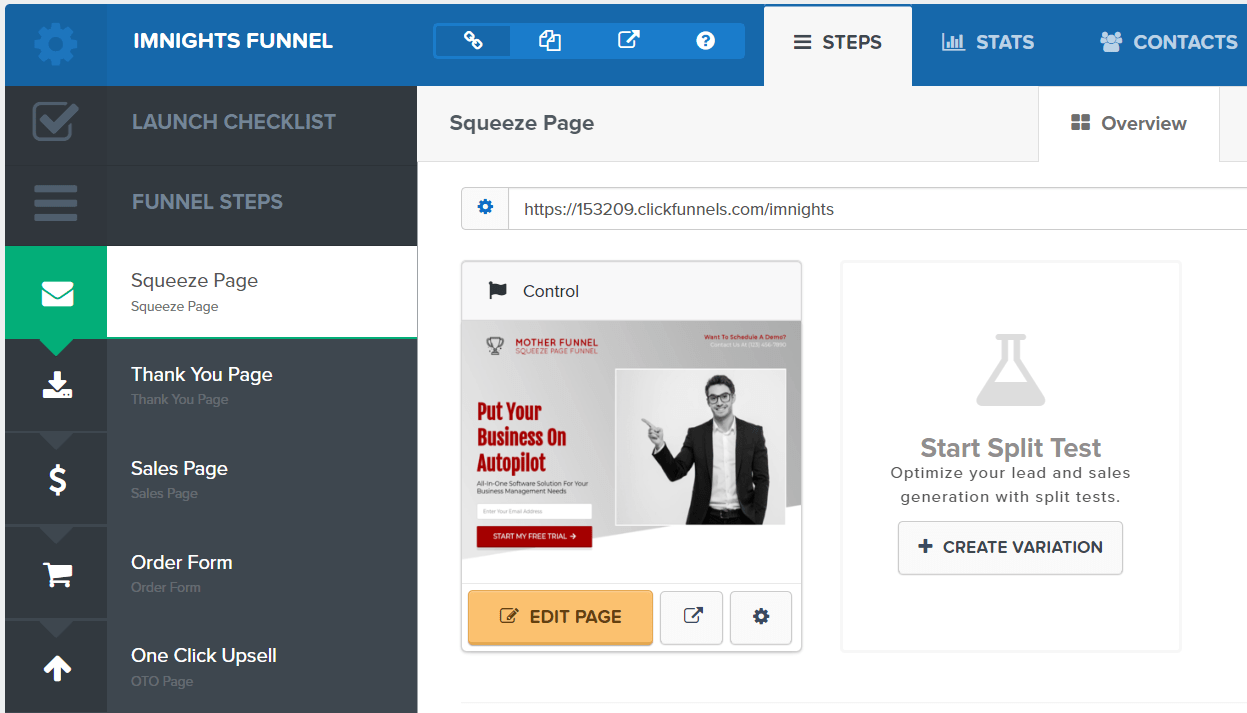 sales and marketing page builder