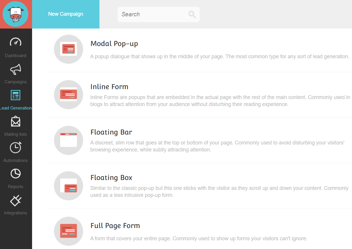 moosend subscription forms