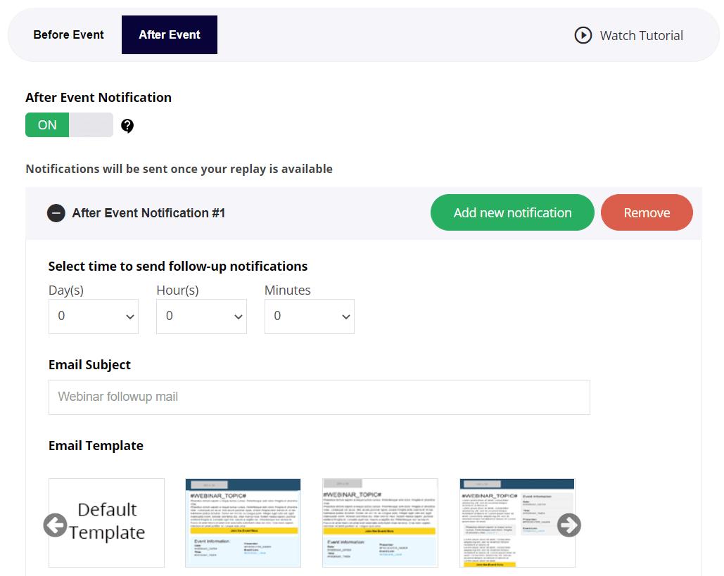 easywebinar notifications
