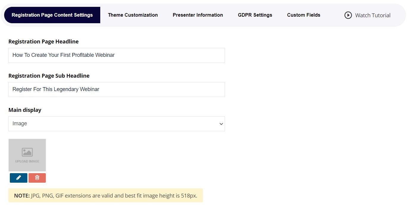 easywebinar registration pages