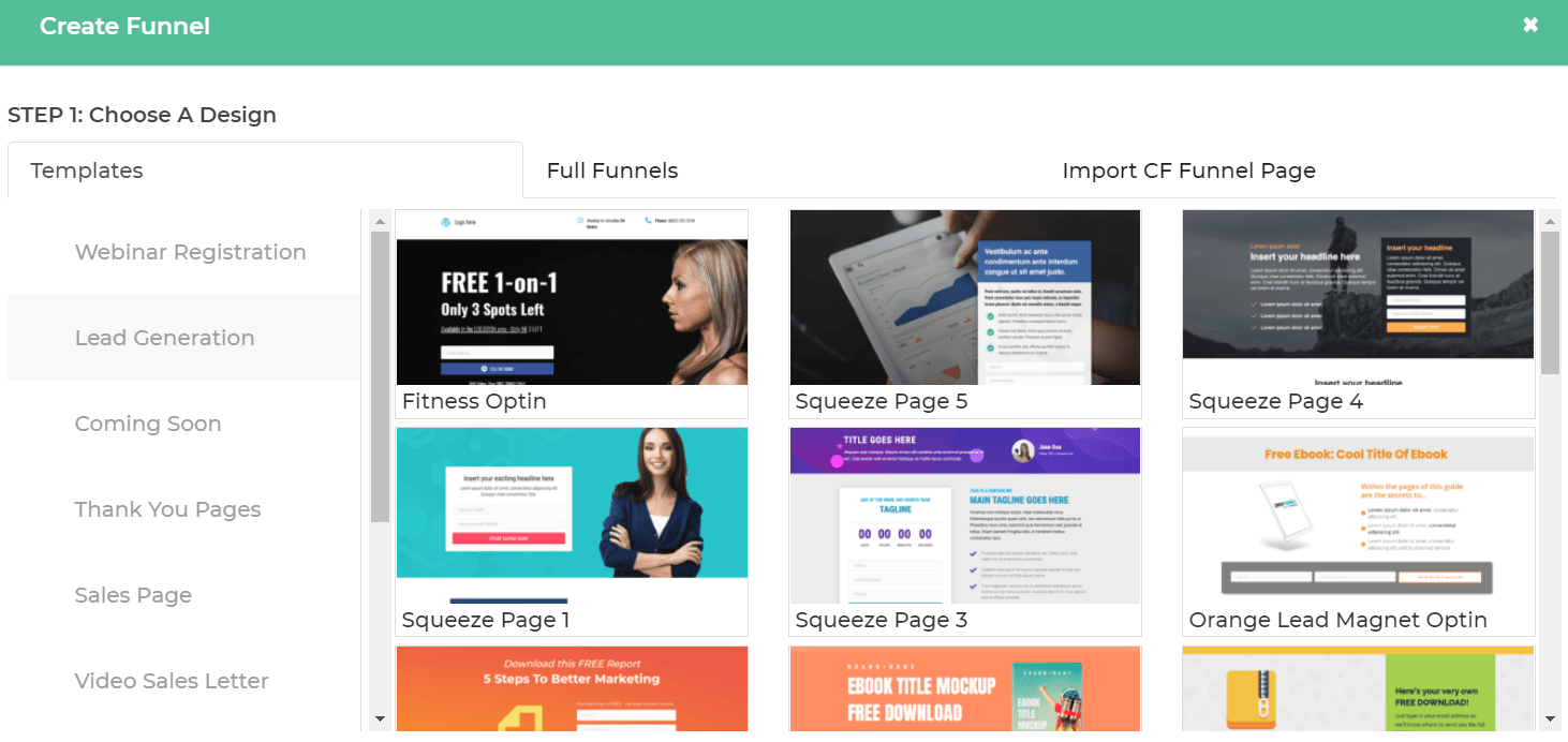 dropfunnels templates