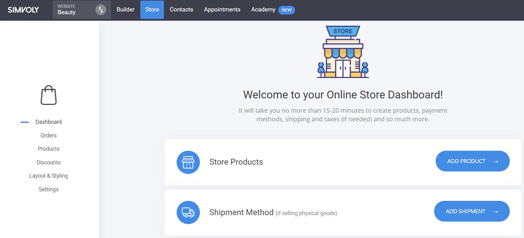 website dashboard help