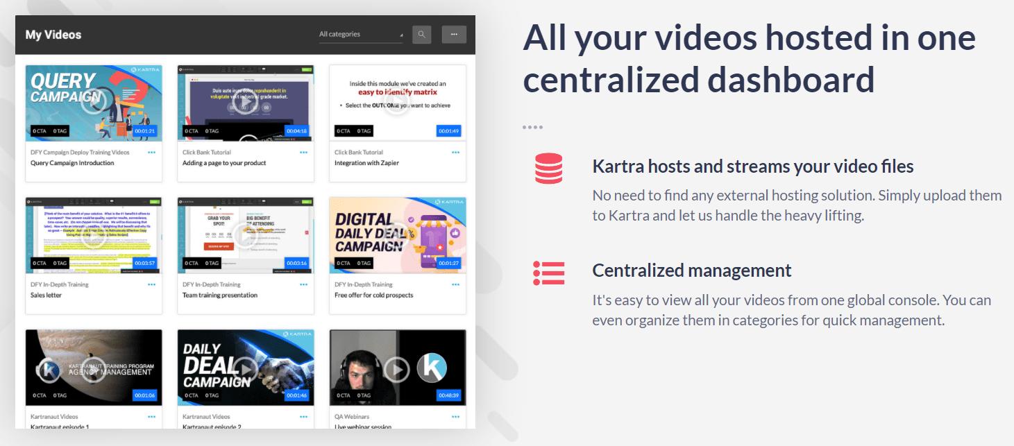 kartra video hosting