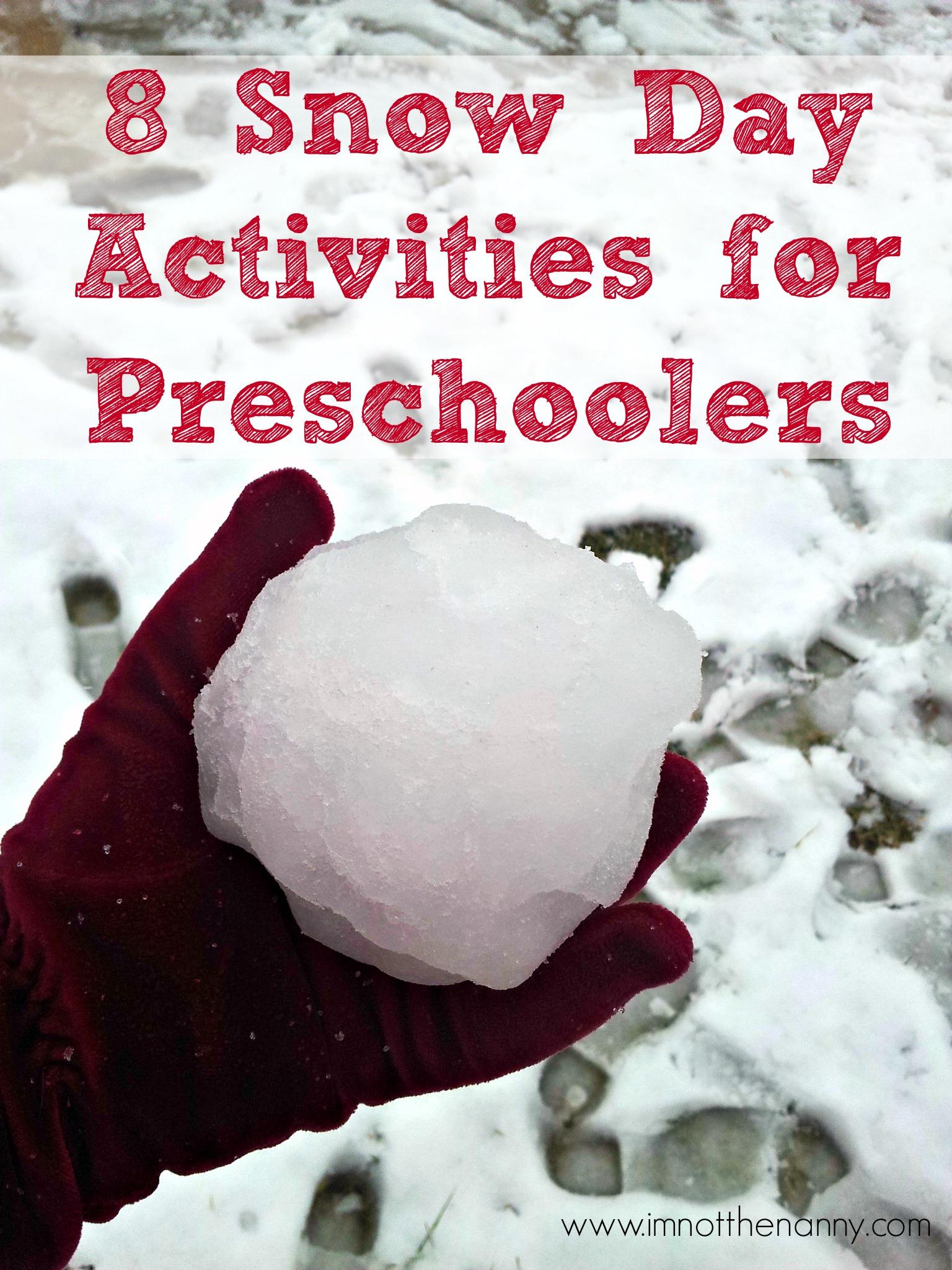 8 Snow Day Activities For Preschoolers